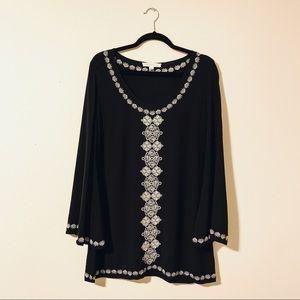 [Lovestitch] Bell-Sleeved Mini Dress